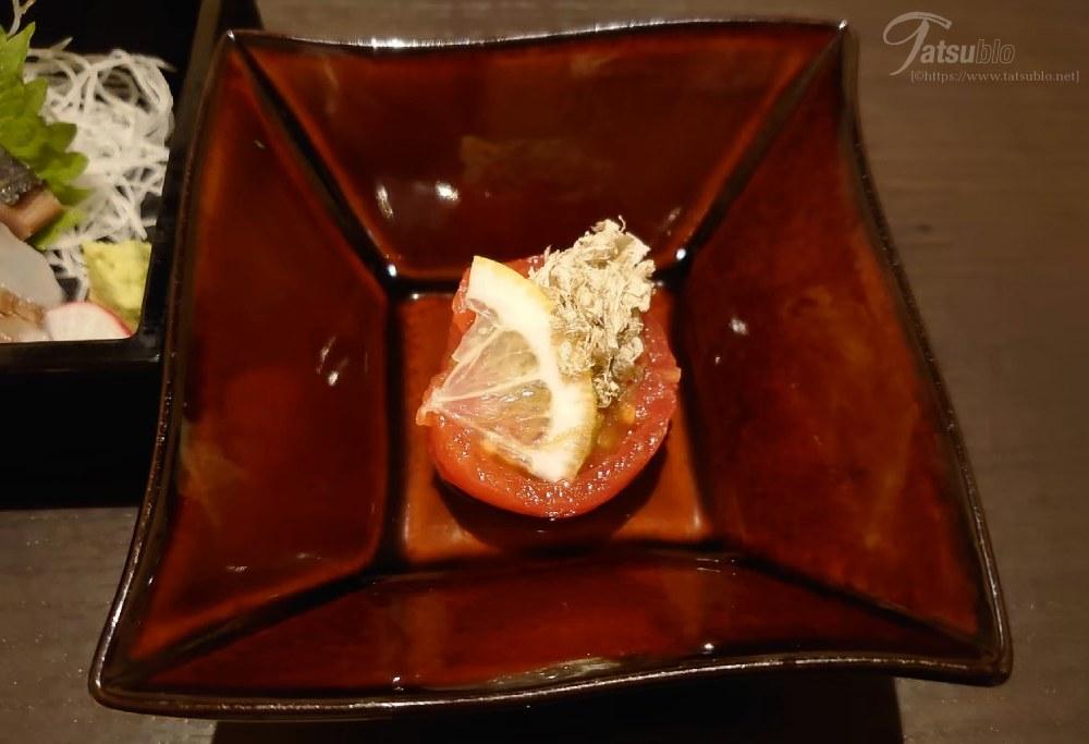 「糸島産 まるごとフルーツトマトのお浸し