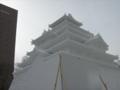 ステージが終わったところで鶴ヶ城をもう一枚。
