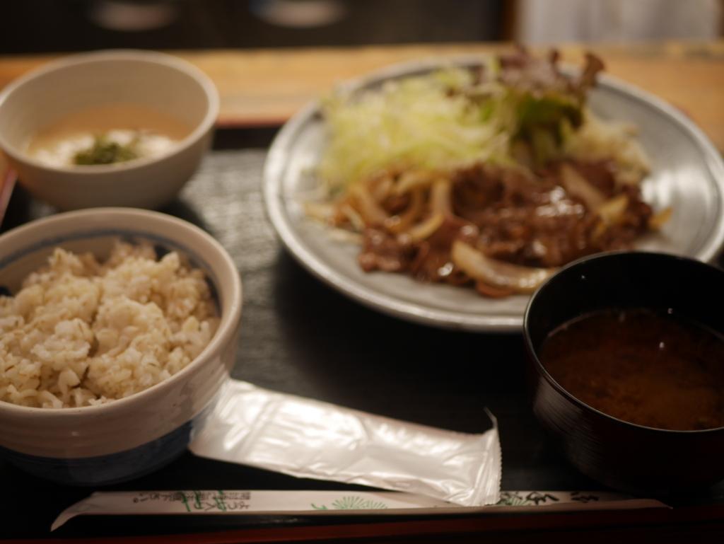 栄でオススメのランチ泰山の牛タン生姜焼き定食