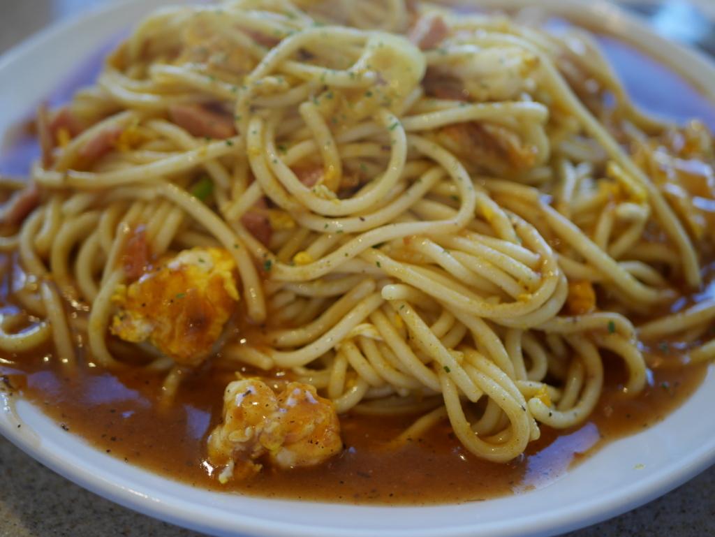 栄でオススメのランチコモのあんかけスパゲティシガツ