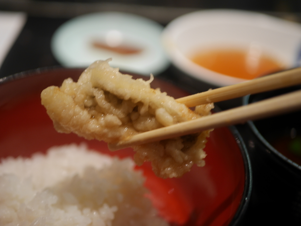 栄でオススメのランチ松月の天ぷら定食