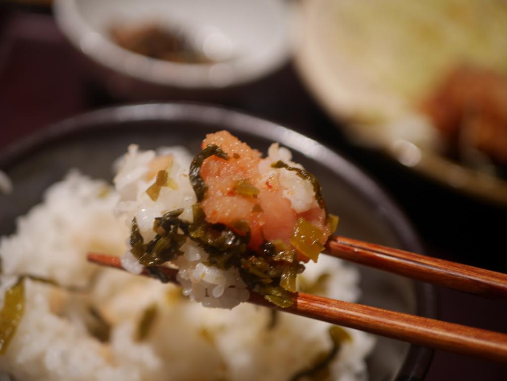 栄でオススメのランチやまやの明太風味唐揚げ定食