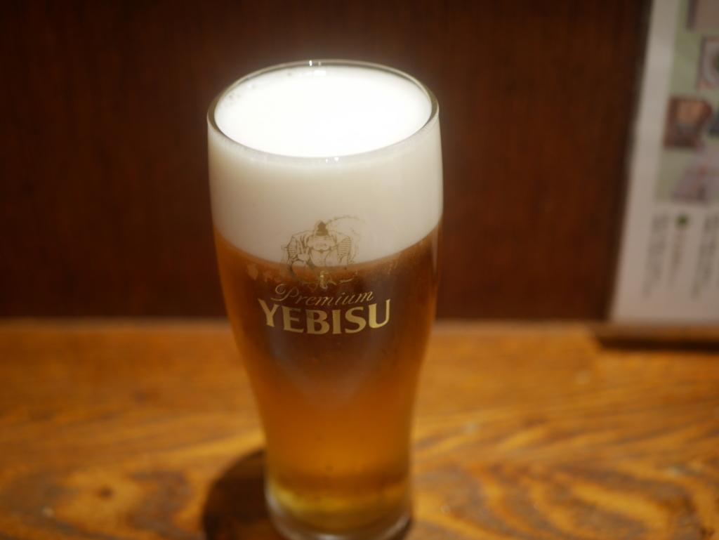 魚魚一 ビール