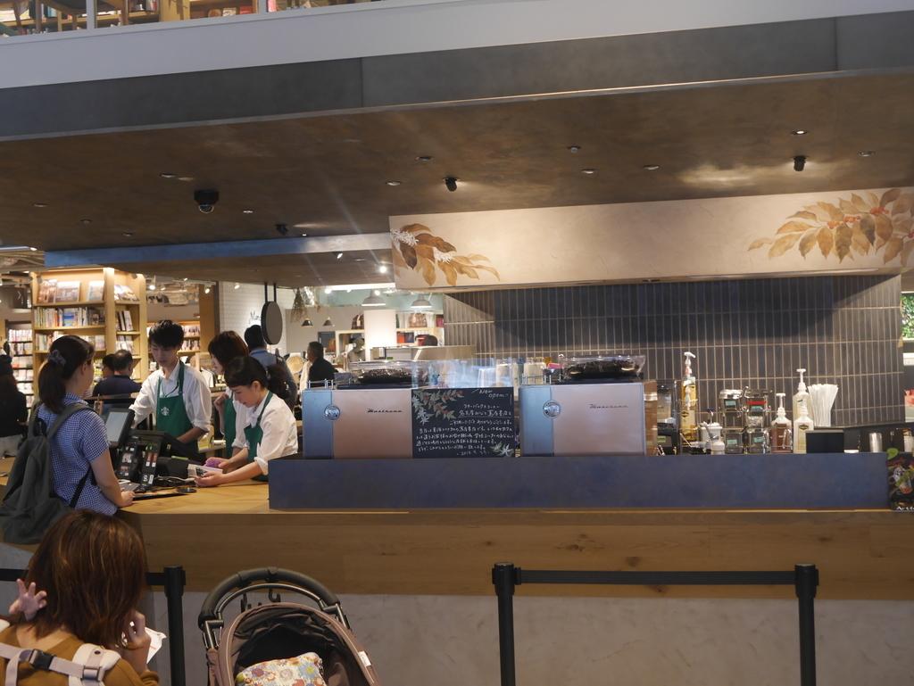ららぽーと名古屋にある蔦屋書店のスターバックス