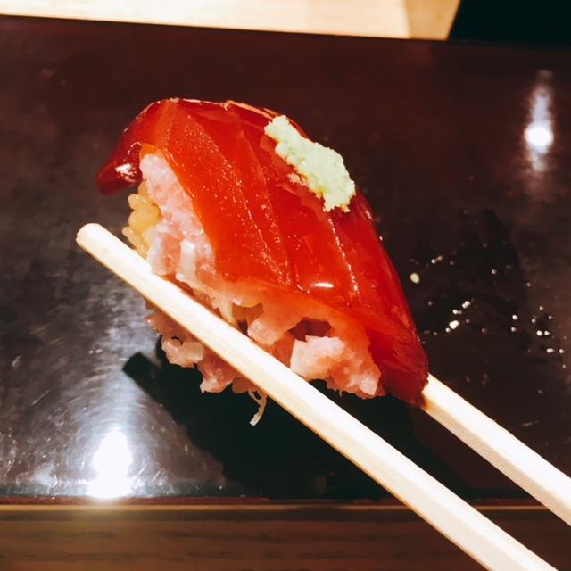 大名古屋ビルディングにあるお寿司屋さん男前酢の男前マグロ