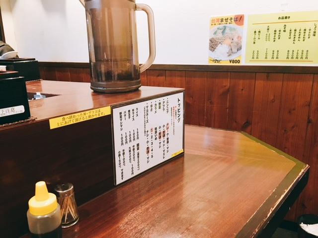 新栄町にある二郎系ラーメンのお店ラーメンさわぎの内観
