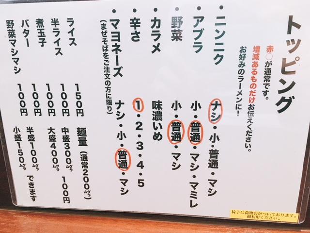 新栄町にある二郎系ラーメンのお店ラーメンさわぎのコール