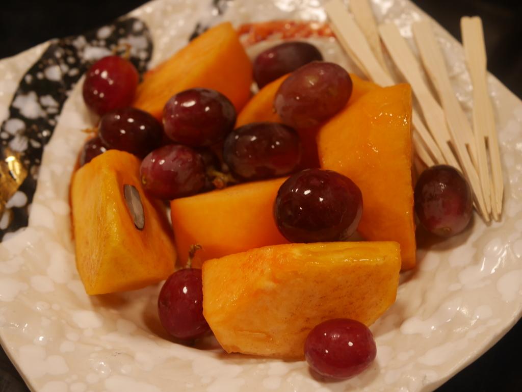 近江牛と松茸食べ放題のあばれ食いで有名な魚松のデザート