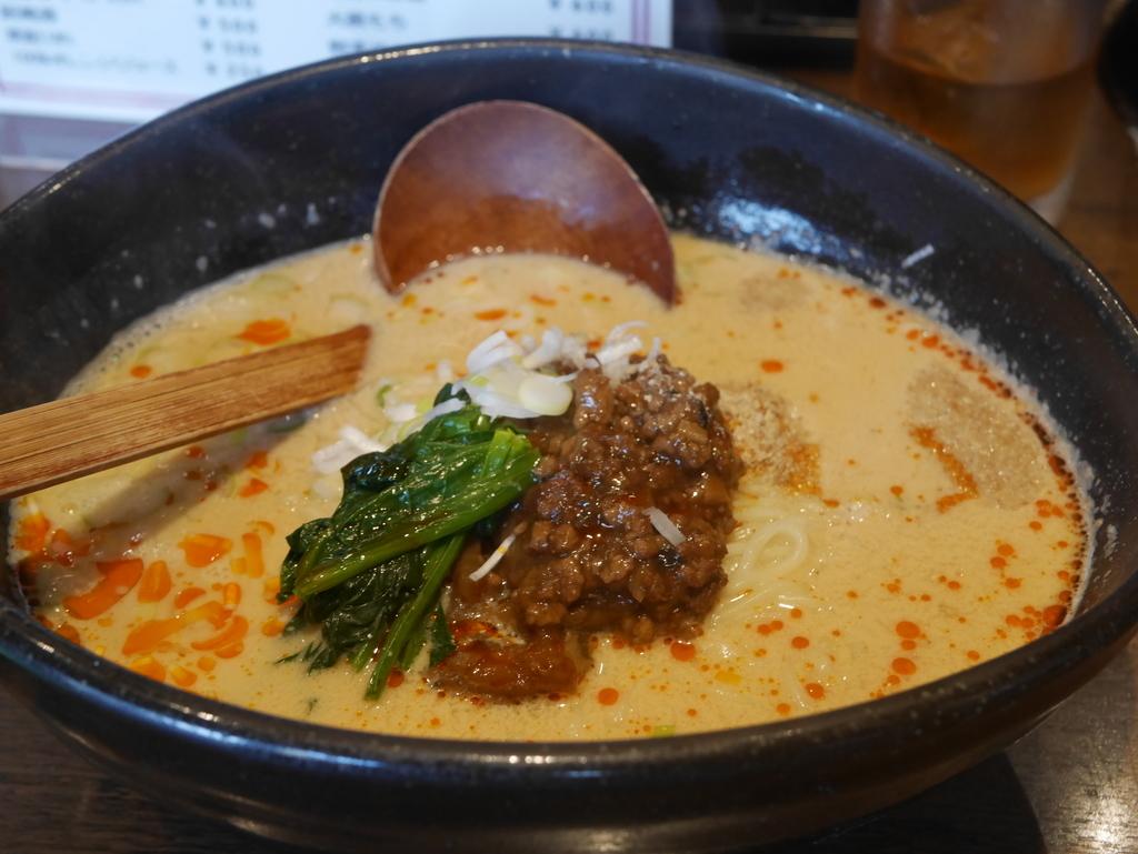 名古屋駅から徒歩5分の場所にあるラーメン屋申家の担々麺
