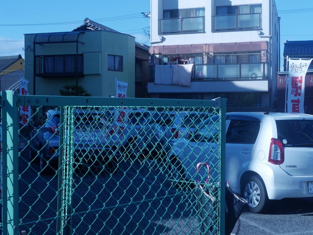 名古屋にあるラーメン屋さん親孝行の駐車場
