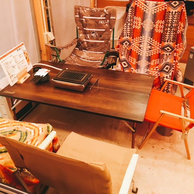 名古屋市栄にある焼肉とラーメンのお店スミヨシベースのキャンプ席