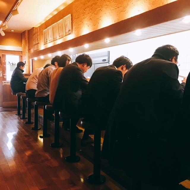 名古屋市丸の内にあるラーメン屋蔘好来の内観