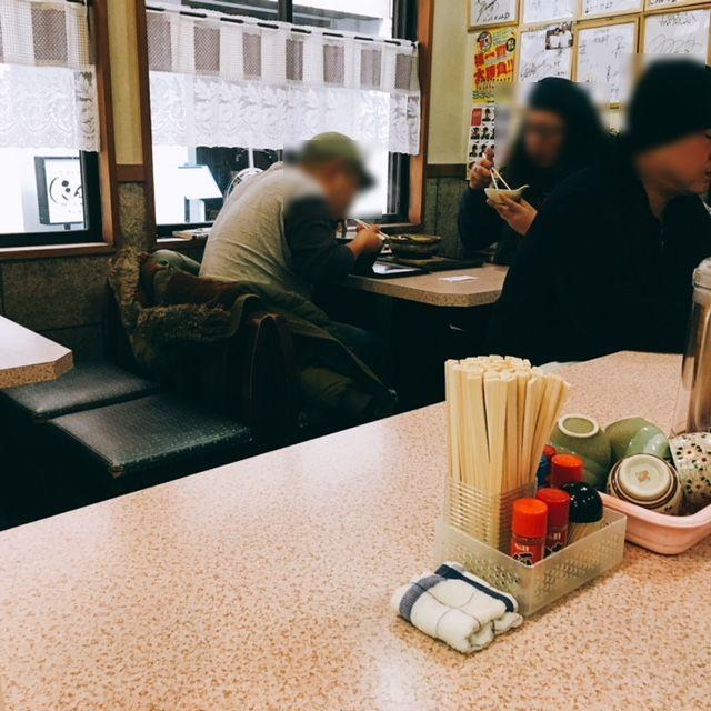 名古屋の新栄町にある味噌煮込みうどんのお店吉野屋の内観