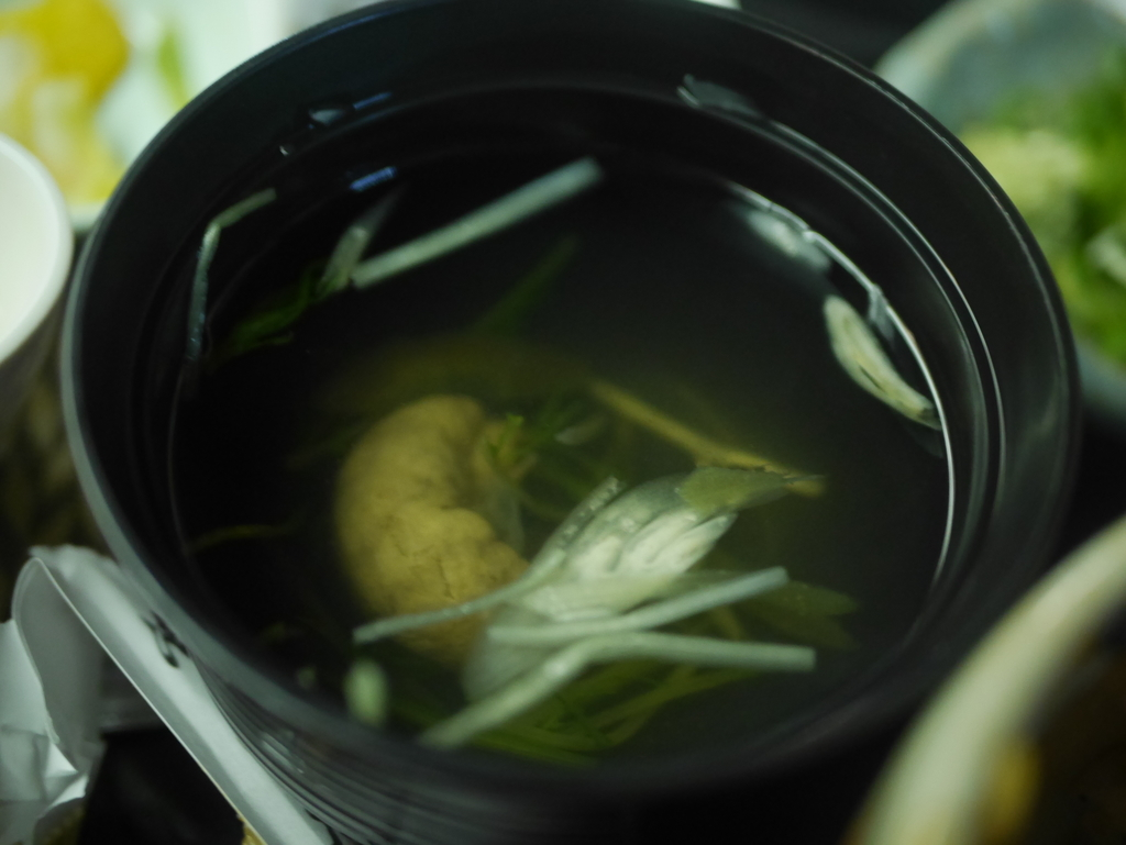 名古屋にあるうなぎ屋さんイチビキのひつまぶし肝吸い