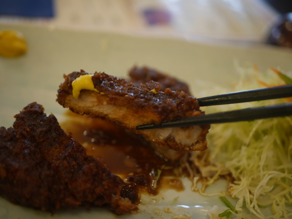 名古屋市伏見にある広小路キッチンマツヤの特選ロース味噌カツ