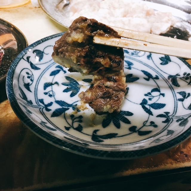 名古屋市浅間町にある焼き肉屋さん馬力屋のにんにくサガリ