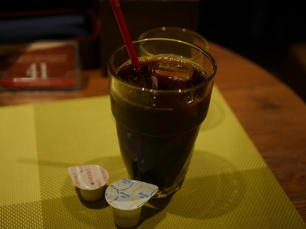 KITTE名古屋にある肉料理のお店KOYOENのアイスコーヒー