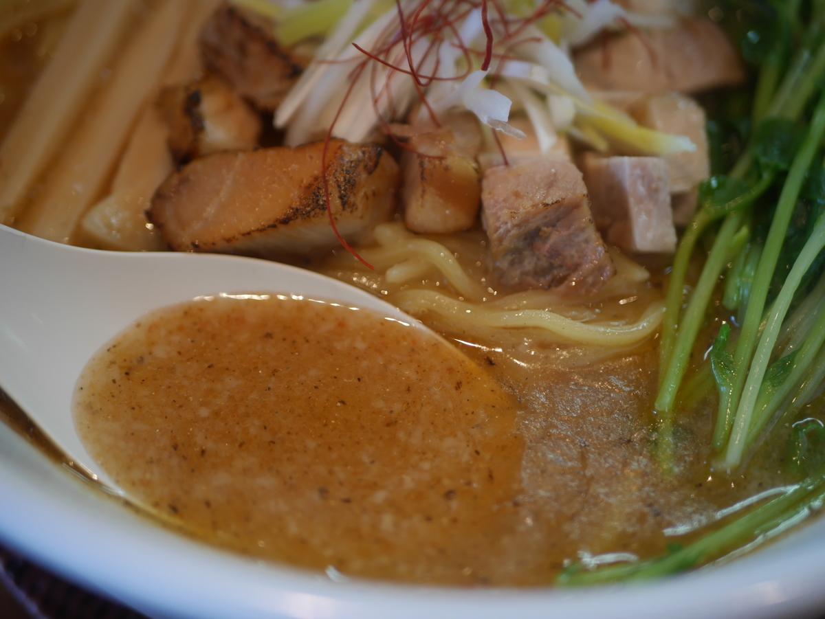 名古屋市いりなかにあるラーメン屋翠蓮の濃いめ焼き干し塩