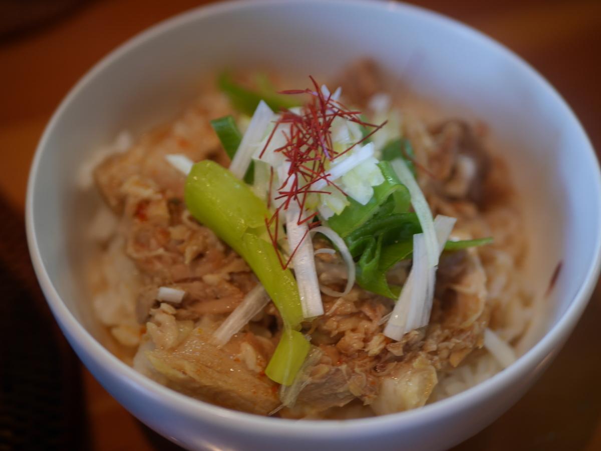 名古屋市いりなかにあるラーメン屋翠蓮のピリ辛ネギチャーシュー丼
