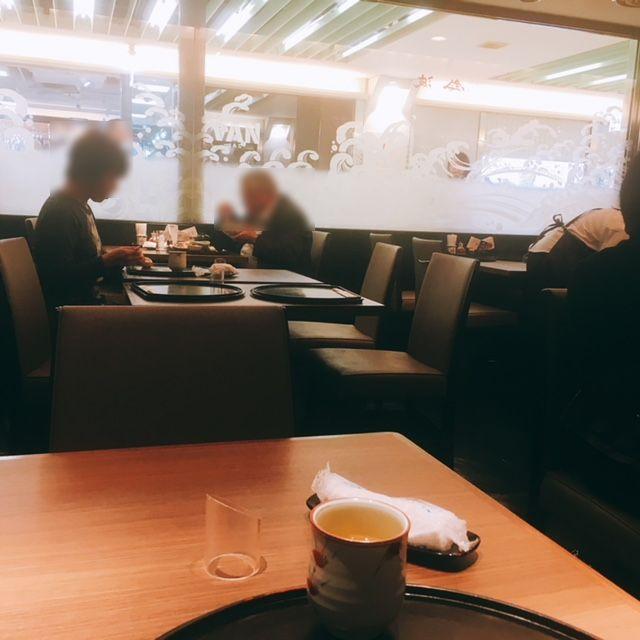 名古屋駅地下街エスカにある魚料理のお店鈴波の内観