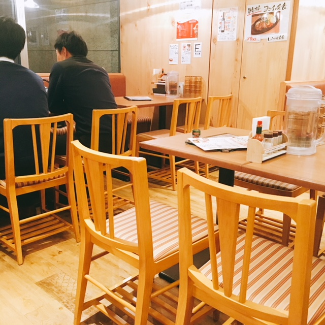 名古屋駅のKITTEにあるあんかけスパのお店ヨコイの内観