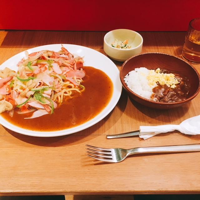 名古屋駅のKITTEにあるあんかけスパのお店ヨコイのあんかけスパとハッシュドビーフ