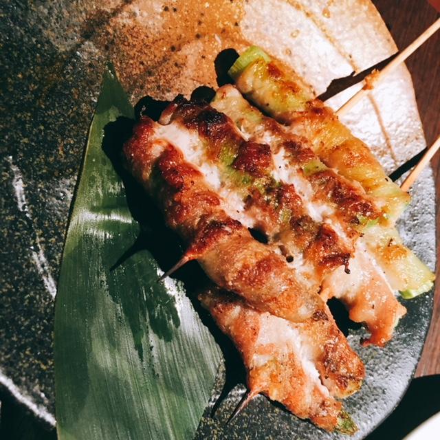 名古屋駅から徒歩5分ほどの場所にある個室居酒屋鳥邸の野菜巻き