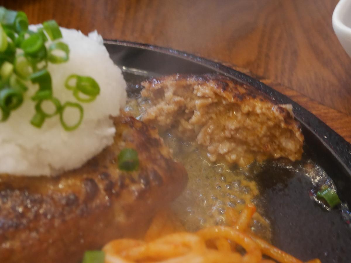名古屋の久屋大通・高岳エリアにあるスパゲッティとハンバーグのお店はせ家のハンバーグ