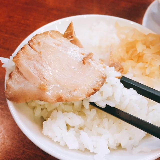 名古屋駅から徒歩10分の場所にあるらーめん南山のチャーシューご飯