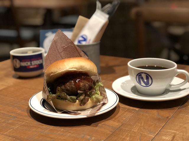 名古屋駅周辺でオススメのモーニングNICKSTOCKのハンバーガー