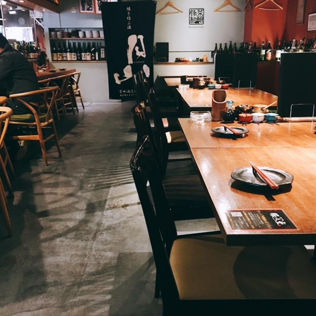 名古屋市伏見にある味噌カツ居酒屋豚八堂の内観