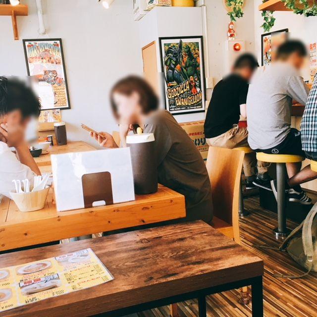 名古屋市中川区にあるラーメン屋さんいえろうの内観
