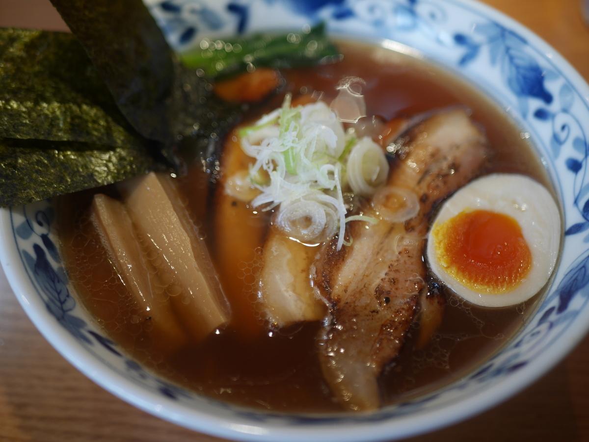 名古屋市東別院にあるラーメン屋さん喜多楽の今昔支那そば醤油