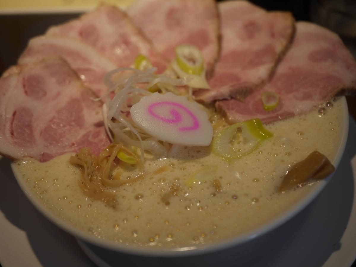 名古屋市丸の内にあるラーメン屋さん啜るの鶏そばチャーシュー増し