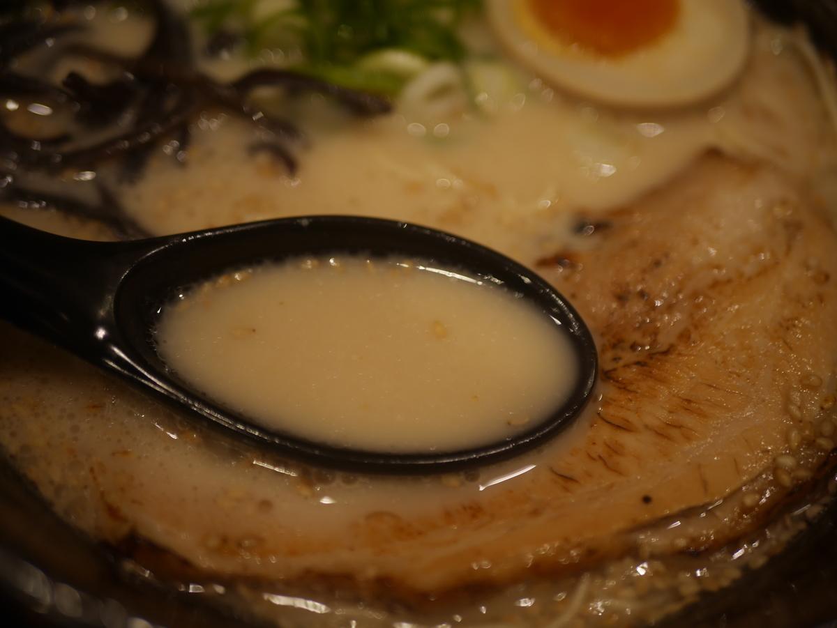 2019年名古屋市東別院にオープンしたラーメン新店千季路の千季路麺のスープ