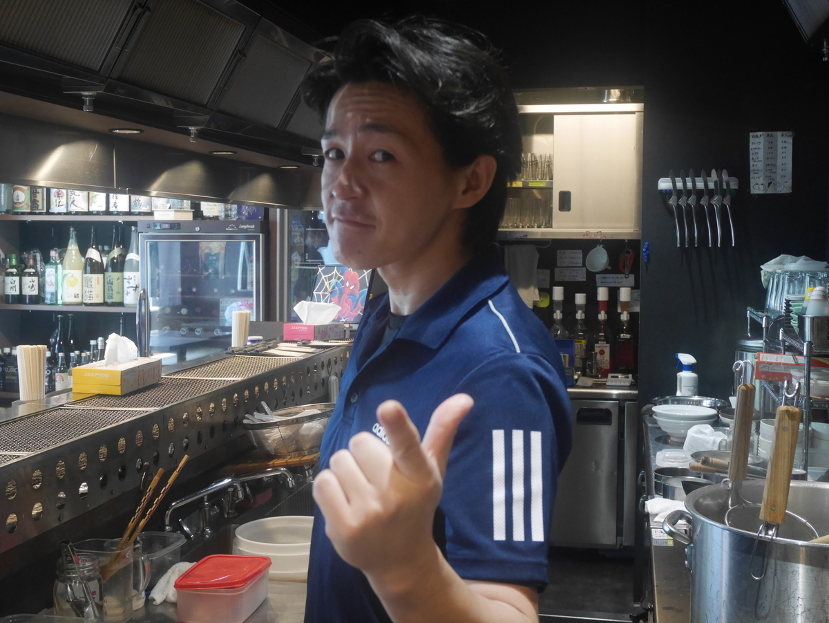 名古屋市栄にあるラーメン屋らー麺志白の店長