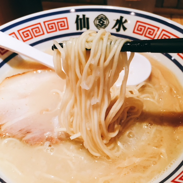 名古屋市大須のおすすめラーメン屋仙水の塩ラーメンの麺
