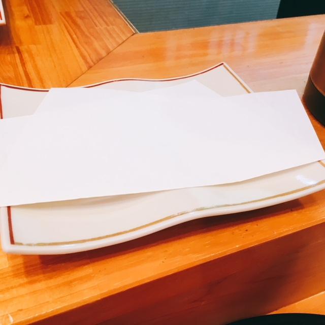 名古屋市金山にある天ぷら内山のお皿