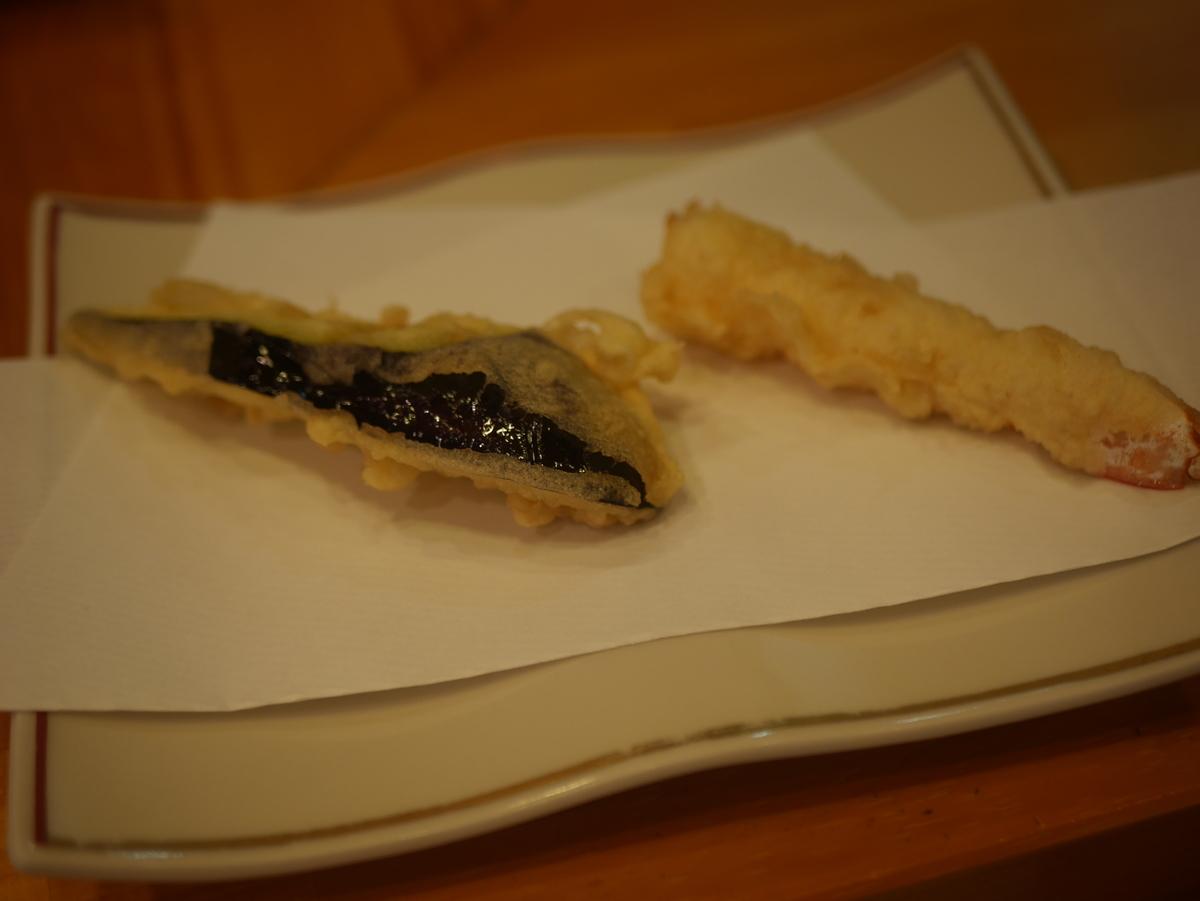 名古屋市金山にある天ぷら内山のランチ天ぷら定食
