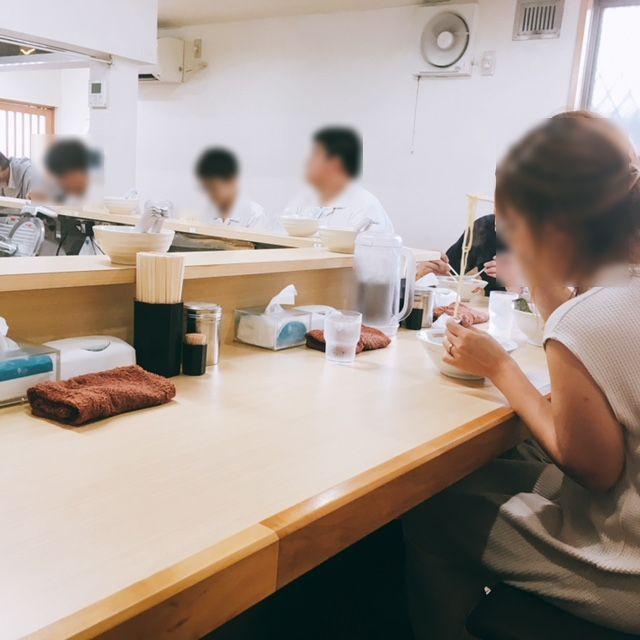 名古屋市大須にあるラーメン屋圓の内観