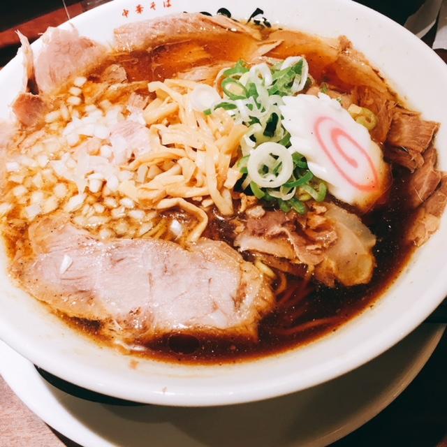 名古屋駅にオープンしたラーメン屋新店ふくろう食堂のあっさりチャーシュー中華そば