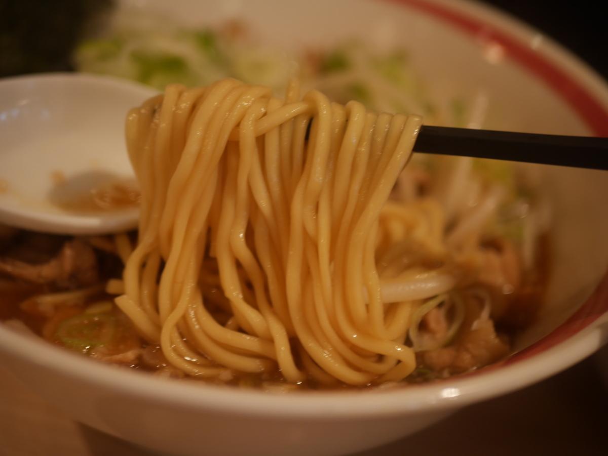 名古屋市大須のおすすめラーメン屋肉そばなおじの肉そばの麺