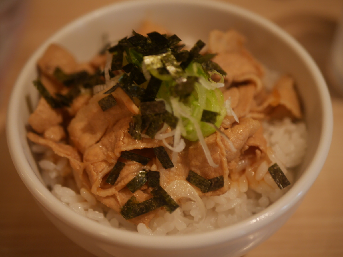 名古屋市大須にあるラーメン屋肉そばなおじの肉めし