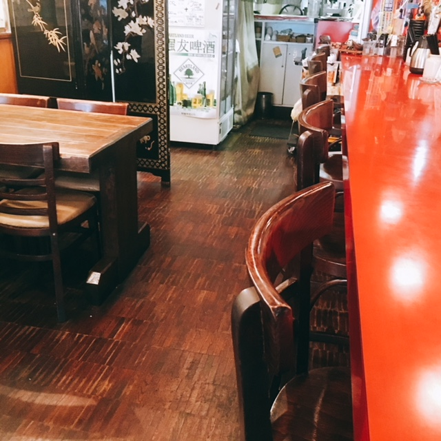 大須商店街にある中華料理屋咲咲の内観