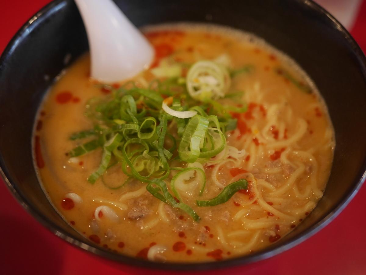 名古屋市大須のおすすめラーメン屋咲咲の担々麺