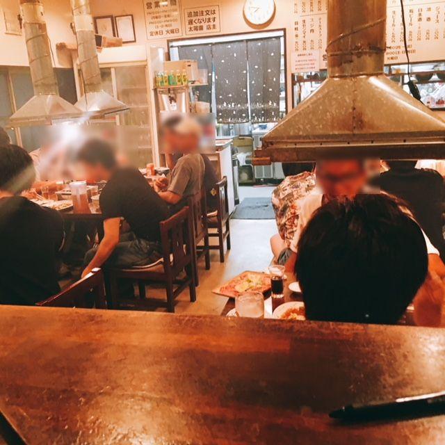 名古屋市山王にある焼き肉屋太陽園の内観