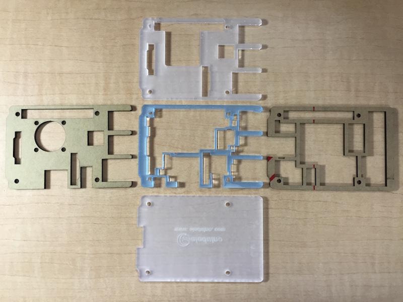 Eleduino RP2用ケース(アクリル板)