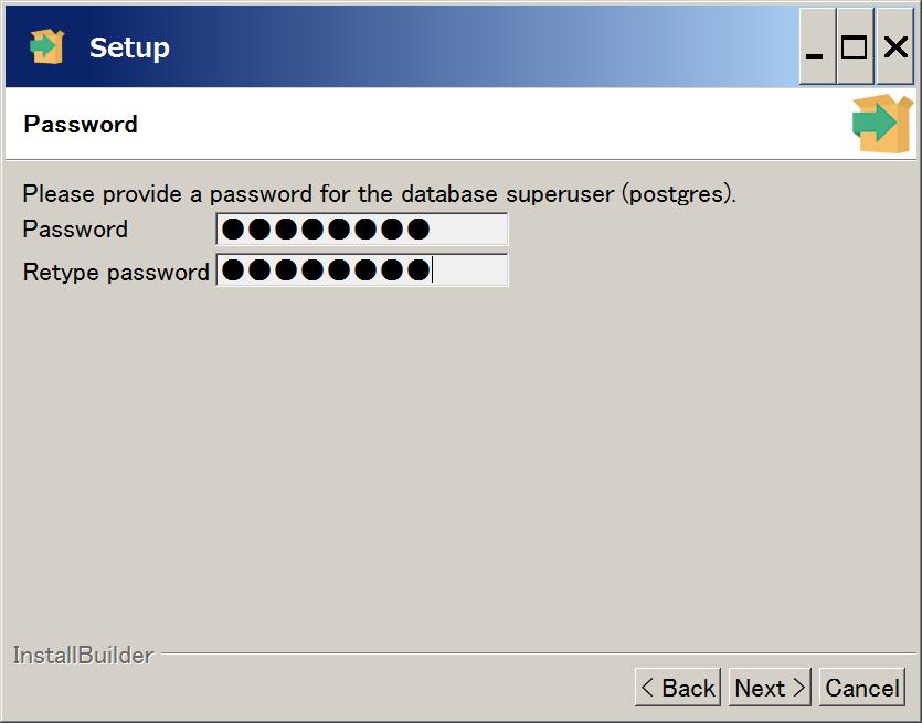 PostgreSQL インストール4