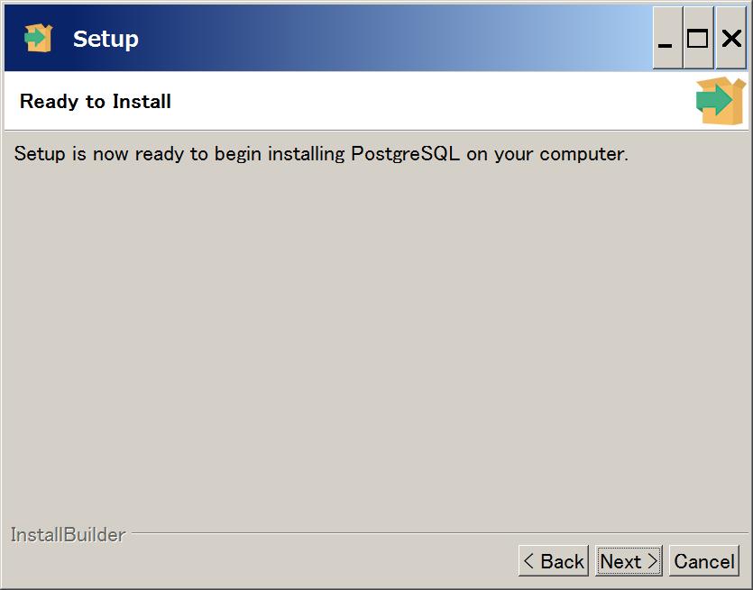 PostgreSQL インストール7