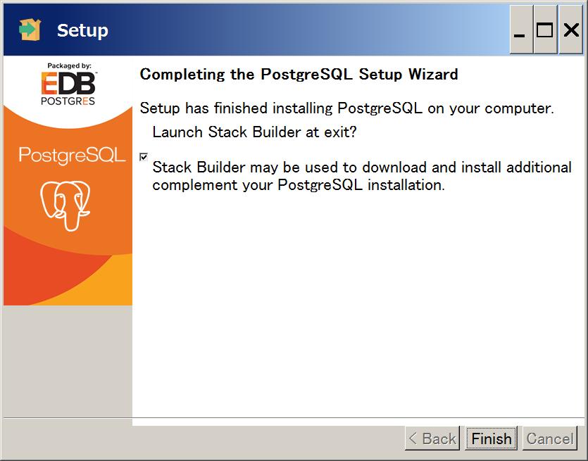 PostgreSQL インストール8